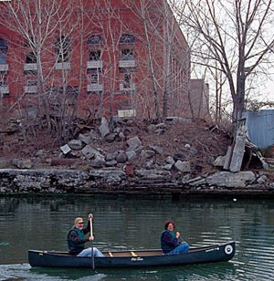 Canoeing Near The Old Power Plant
