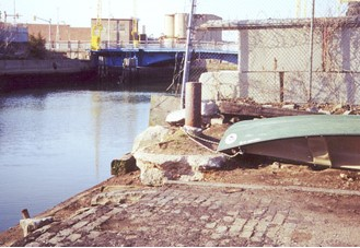 Canoes Locked at Street End when Programs Began in 1999