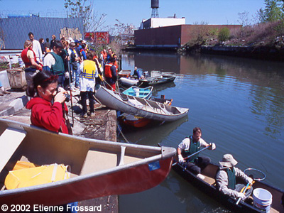 Shoreline Cleaning Festival with our Canoes on the Gowanus