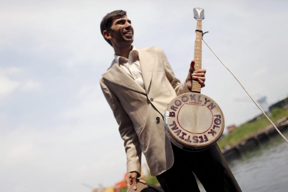 Brooklyn Folk Festival Banjo Toss at The Gowanus Canal
